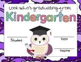 Kindergarten Graduation Owl Certificates