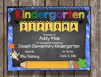 Kindergarten Graduation Pack - Diploma - Banner - Invitation - Announcement