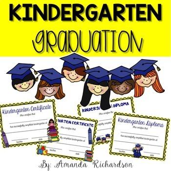 Kindergarten Graduation: Editable Diplomas, Certificates,