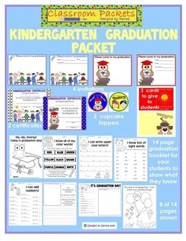 Kindergarten Graduation Packet