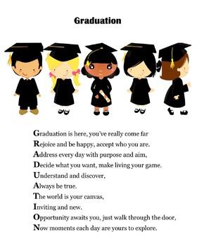 Kindergarten Graduation Poems/Gifts