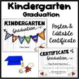 Kindergarten Graduation Poster and Editable Certificate 20