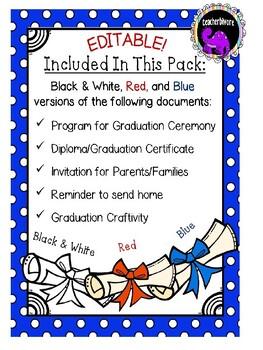 Kindergarten Graduation Print-and-Go Planning Pack
