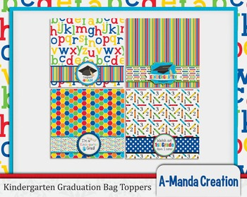 photo about Printable Bag Toppers known as Kindergarten Commencement Printable Bag Toppers