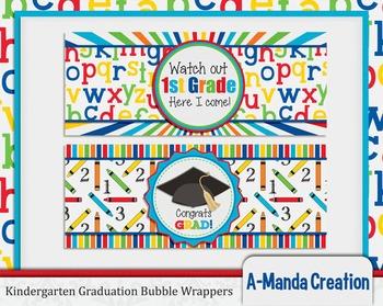 Kindergarten Graduation Printable Bubble Wrappers
