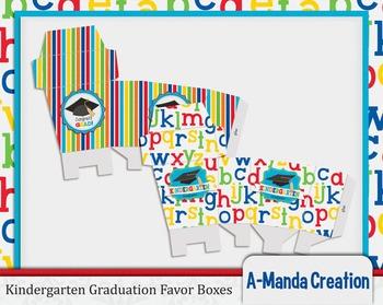 Kindergarten Graduation Printable Favor Boxes