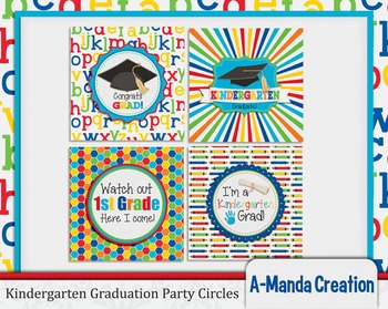 Kindergarten Graduation Printable Party Circles