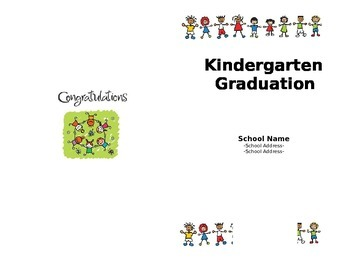 Kindergarten Graduation Program (Editable)