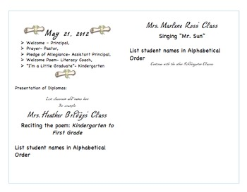 Graduation Program Templates