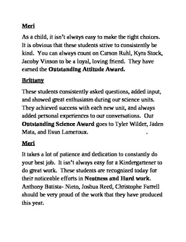 Kindergarten Graduation Script by Brittany Fangmeier | TpT