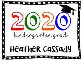 Kindergarten Graduation Sign (Editable)