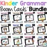 Kindergarten Grammar Boom Cards Distance Learning Bundle: