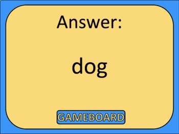 Kindergarten Grammar Review Game Show EDITABLE Nouns Verbs Prepositions