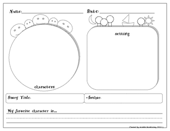 Kindergarten Graphic Organizers