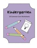 Kindergarten Graphic Organizers - Common Core