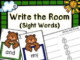Kindergarten Groundhog Day Literacy Center - Sight Word Write the Room