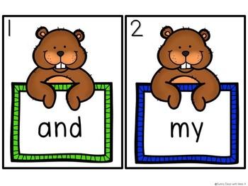 Kindergarten Groundhog Day Literacy Center - Sight Word Write the Room