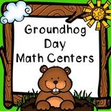 Kindergarten Groundhog Day Math Centers Bundle - 7 Groundhog Math Centers