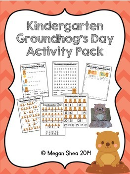 Kindergarten Groundhog's Day Activity Pack