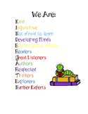 Kindergarten Growth Mindset Poster