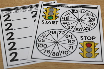 Kindergarten Guided Math: Unit Eight Numbers to 100