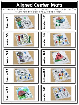 Kindergarten Guided Math: Unit Three Counting Sets to 20