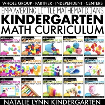 Kindergarten Guided Math Year-long Bundle