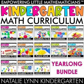 Kindergarten Math Curriculum for the Year Bundle