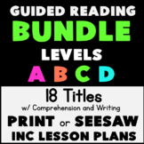 Kindergarten Guided Reading Bundle: 17 Leveled Books w Com