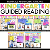 Kindergarten Guided Reading Bundle with Digital Books and Word Work Levels AA-D