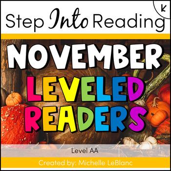 Kindergarten Guided Reading November Level AA