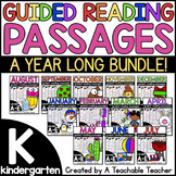 Kindergarten Guided Reading Passages and Questions Levels A-E *GROWING BUNDLE*