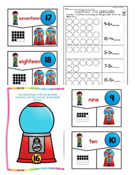 Kindergarten Gumball Math Bundle