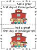Kindergarten Half Page First Day Certificates