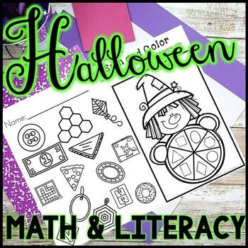 Kindergarten Halloween Activities - Math and Literacy - No Prep!