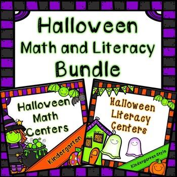 Kindergarten Halloween Center Bundle - 15 October Centers