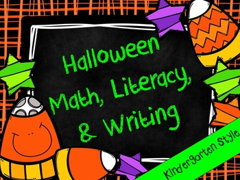 Kindergarten Halloween Centers Bundle- Math Centers, Liter