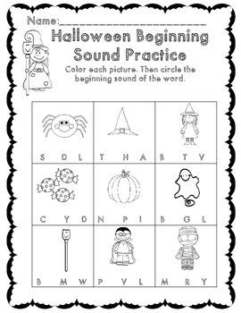 Kindergarten Halloween Math & ELA Activity Set