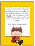Kindergarten Halloween Emergent Reader