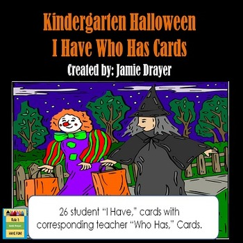 Halloween Vocabulary and Symbols I Have Who Has Cards