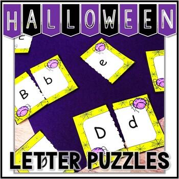 Kindergarten Halloween Literacy Center - ABC Center