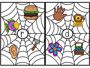 Kindergarten Halloween Literacy Center - Ending Sound Center