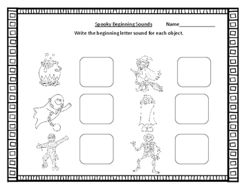 Kindergarten Halloween Math And Literacy Packet