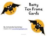 "Kindergarten Halloween Math: Batty Ten Frame ""Task"" Cards 1-20"