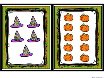 Kindergarten Halloween Math Center - Count the Room