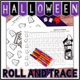 Kindergarten Halloween Math Center - Roll and Trace