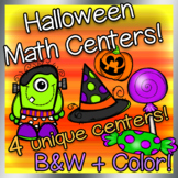 Kindergarten Halloween Math Centers