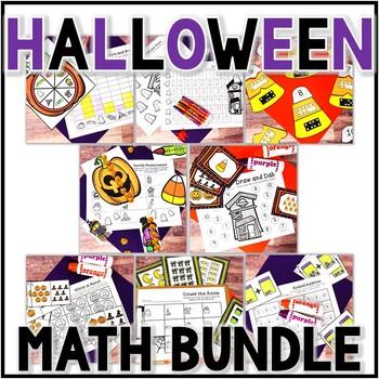 Kindergarten Halloween Math Centers- 8 October Centers