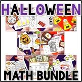 Kindergarten Halloween Math Centers- 8 October Centers Bundle