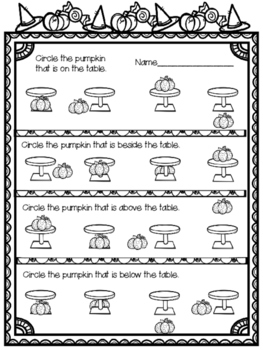 Kindergarten Halloween Math and Literacy